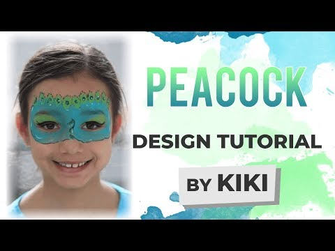 Peacock Face Painting Tutorial