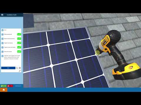 Finalizing Mounting Modules - Solar Training