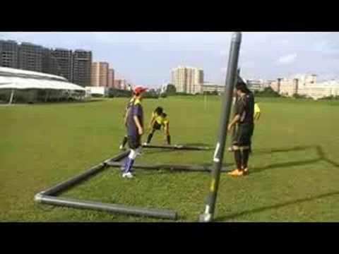 HAFC Setting up PVC Goal Posts