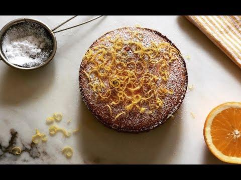 Orange and Lemon Polenta cake   Gâteau à la polenta Citron Orange