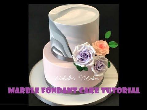 Marble Fondant Cake Tutorial