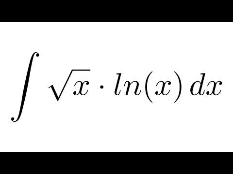 Integral of ln(x)*sqrt(x) (by parts)