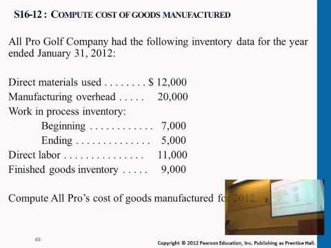 Compute Cost of Goods Manufactured