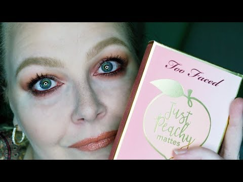 TooFaced Cosmetics   Just Peachy Mattes   First Impression