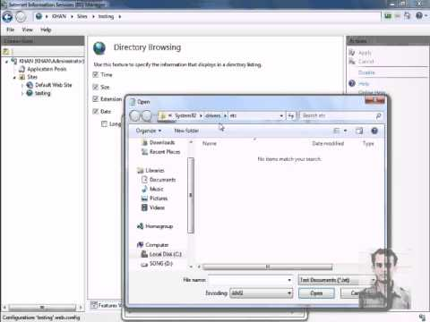 Adding Website in IIS and Using Friendly Name to Open the Website
