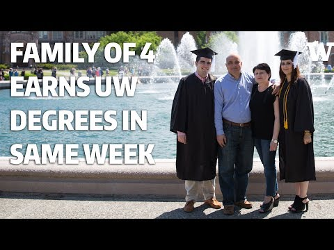A family of four earned University of Washington degrees in the same week