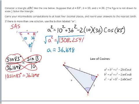 Solving a Triangle with Law Cosines
