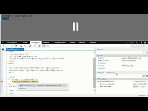 JQuery Tutorial 5 - How to debug JQuery code in Internet Explorer Browser