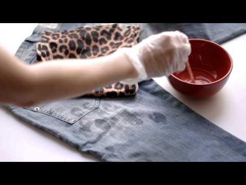 DIY Bleach Patterned Jeans Video Tutorial