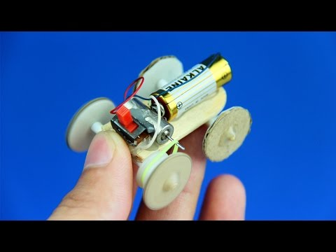 How to Make a Battery Toy Car at Home