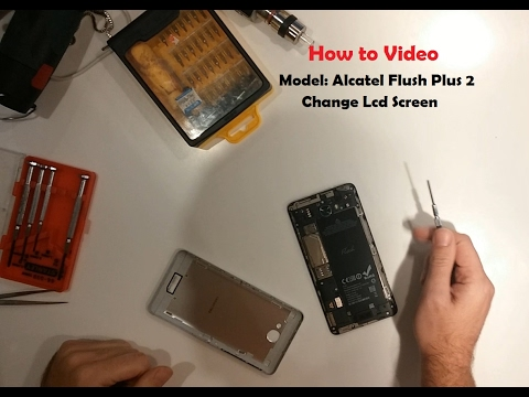 How to change screen digitizer with  LCD  on Flash Plus 2
