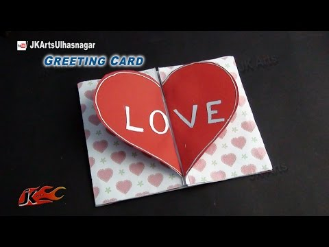 DIY Love Heart Greeting Card | How to make Valentine's Day Greeting Card | JK Arts 817