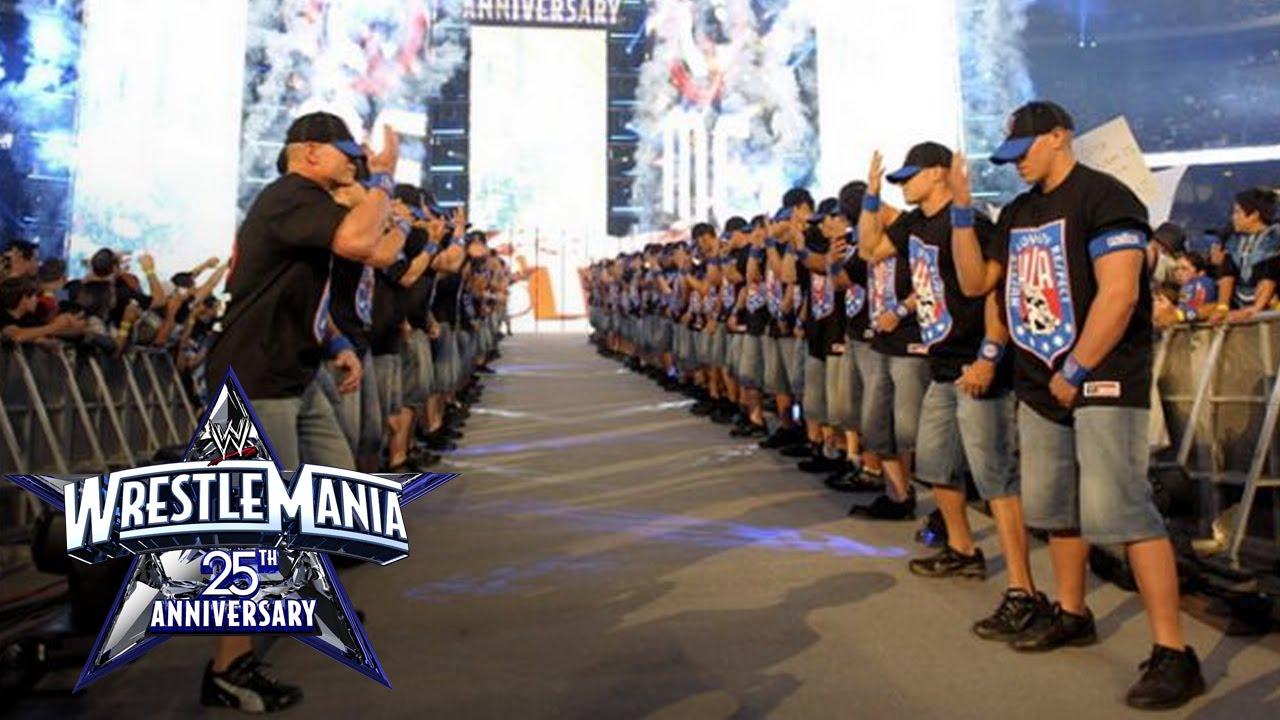 An army of John Cenas make their WrestleMania entrance: WrestleMania 25
