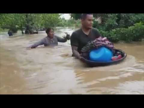 Human forces help after bad raining
