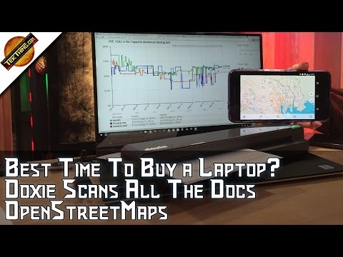 Best Time To Buy A Laptop? Doxie Scanner Rocks, Encrypted Storage, CamelCamelCamel, OpenStreetMaps