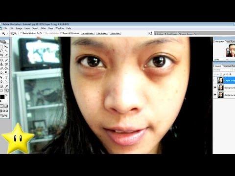 Dark Eye Circles Photoshop Makeover Time Lapse
