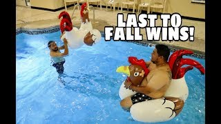 Last One To Fall Off The Rooster Wins!