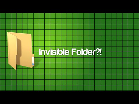 How to make an Invisible Folder on your Desktop?! February 2017