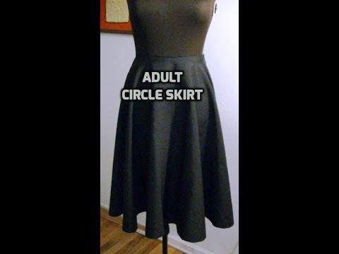 DIY An Adult Circle Skirt - Part 1 of 2