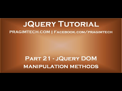 jQuery DOM manipulation methods