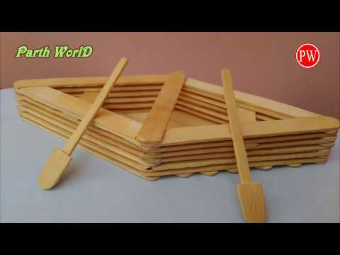 How to Make a Boat with Popsicle Sticks - Handmade - DIY Crafts - Art with Ice-Cream Sticks