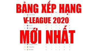 Bảng xếp hạng V-League 2020 mới nhất | TPHCM dẫn đầu, Hà Nội FC vào top 3 | Thuật Thể Thao