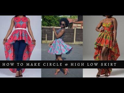 Full Circle Skirt & High Low Skirt Tutorial