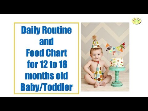 Daily Routine and Food Chart for 12-18 months baby/toddler
