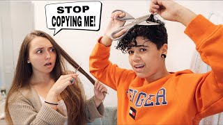 Copying EVERYTHING My Girlfriend Does For 24 Hours!