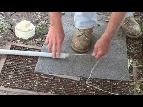 vaccuming a string through a pipe