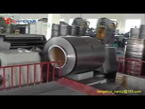 Technical process of steel barrel production line
