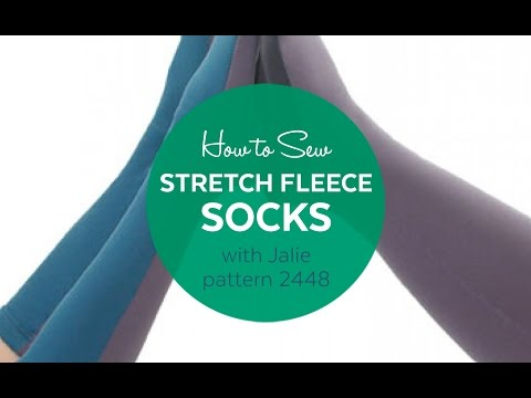 Jalie Sewing Patterns - How to Make Stretch Fleece Socks