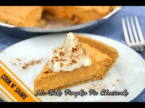 No Bake Pumpkin Pie Cheesecake - Simple and Easy