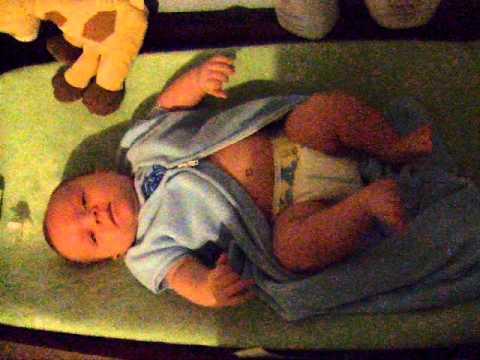 baby kicking legs like he's running