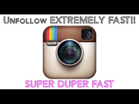 How To Unfollow On Instagram EXTREMELY Fast!