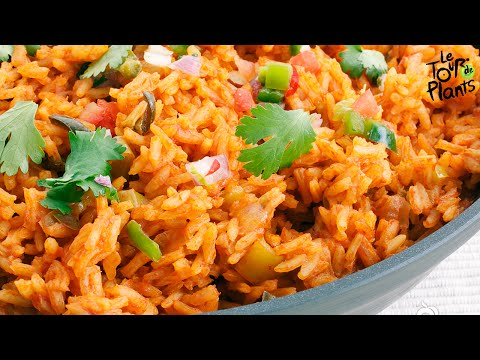 Spanish Rice (Mexican Rice) Using a Rice Cooker (Fat Free, Vegan, Oil Free) | One Minute Recipes