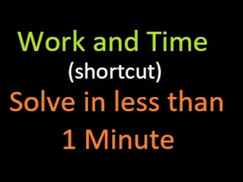 solve work and time problem in less than a minute without formula | Bank PO : SSC : IBPS