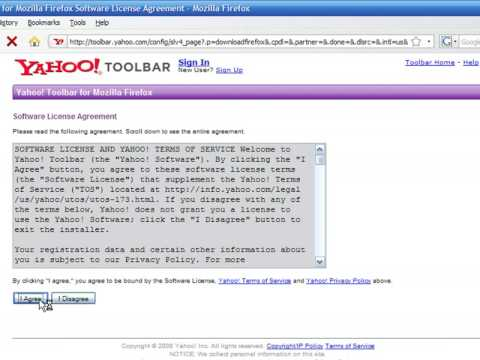 How to Use an Internet Web Browser : How to Install Yahoo Toolbar