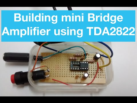 DIY mini amplifier using TDA2822