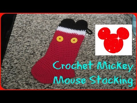 CROCHET MICKEY MOUSE STOCKING