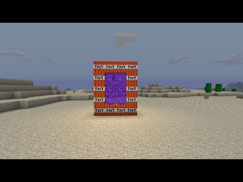 minecraft xbox one how to make a TNT portal glitch