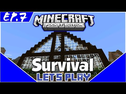 Survival Let's Play EP.7-  ANIMAL FARM! -Minecraft PE(Pocket Edition)