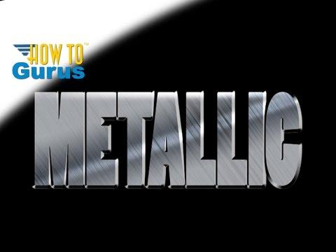 Photoshop Text : Make a Metallic Brushed Metal Effect : CC 2018 CS6 CS5 Tutorial