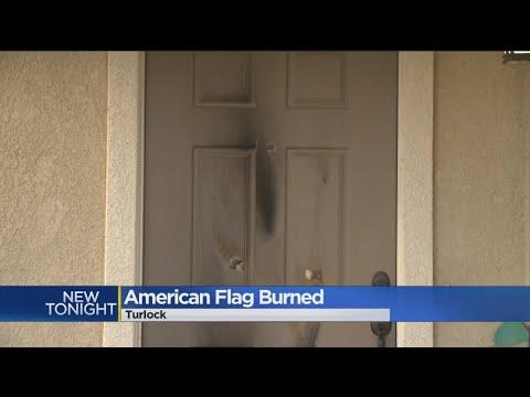 American Flag Burned Outside Turlock Home