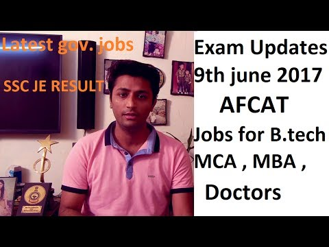 Exam News #3 :-SPECIAL JOBS FOR B.TECH , DOCTORS , MCA AND ,MBA [EXAMINATION UPDATE ]