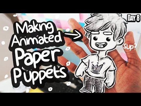 I made an Animatable Puppet from Paper