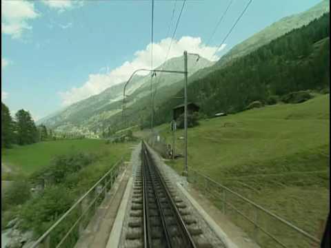 World railways. Switzerland. Glacier Express_1. Zermatt - Brig