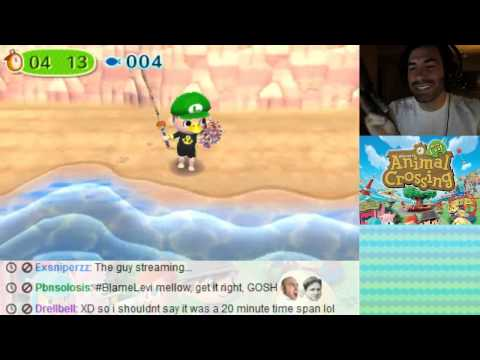 Animal Crossing New Leaf 3DS - Eyes Closed Fish Catch
