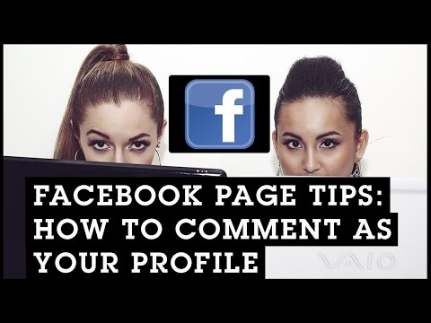 Facebook Page Tips: How To Comment As Your Profile