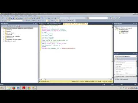 SQL Server tutorial 82 How to view index usage